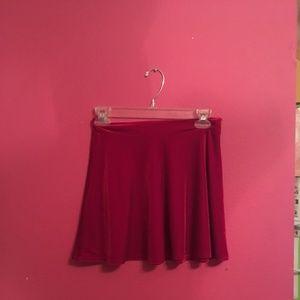REd velvet mini skirt